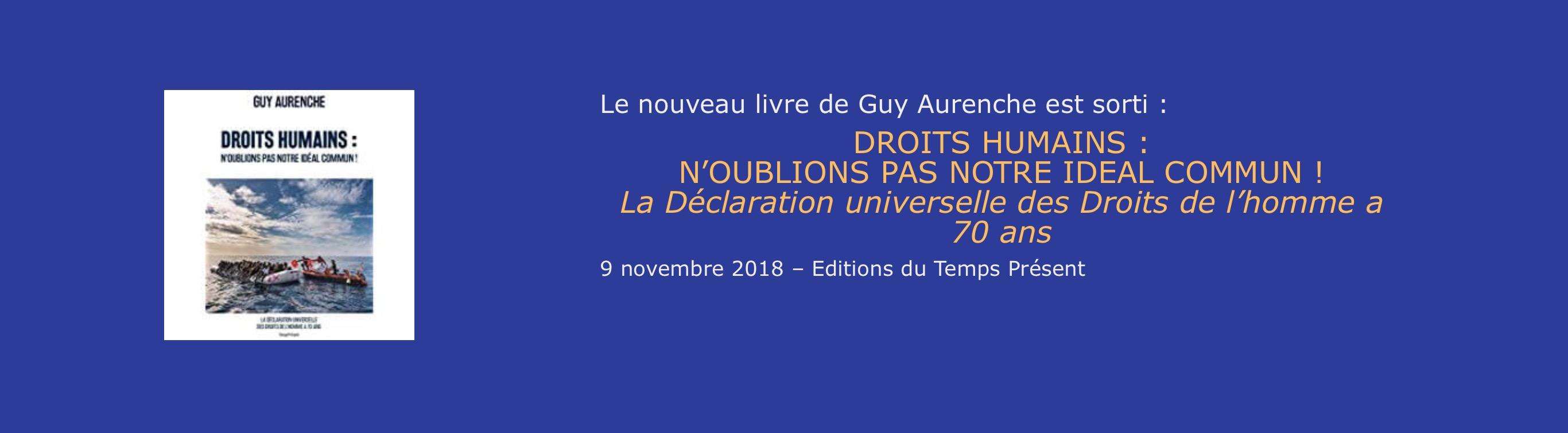 Interview de Guy Aurenche