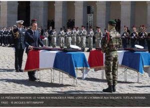 hommage aux soldats tués au burkinafaso