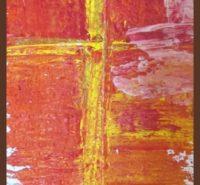 45croix-jaune-fond-rouge